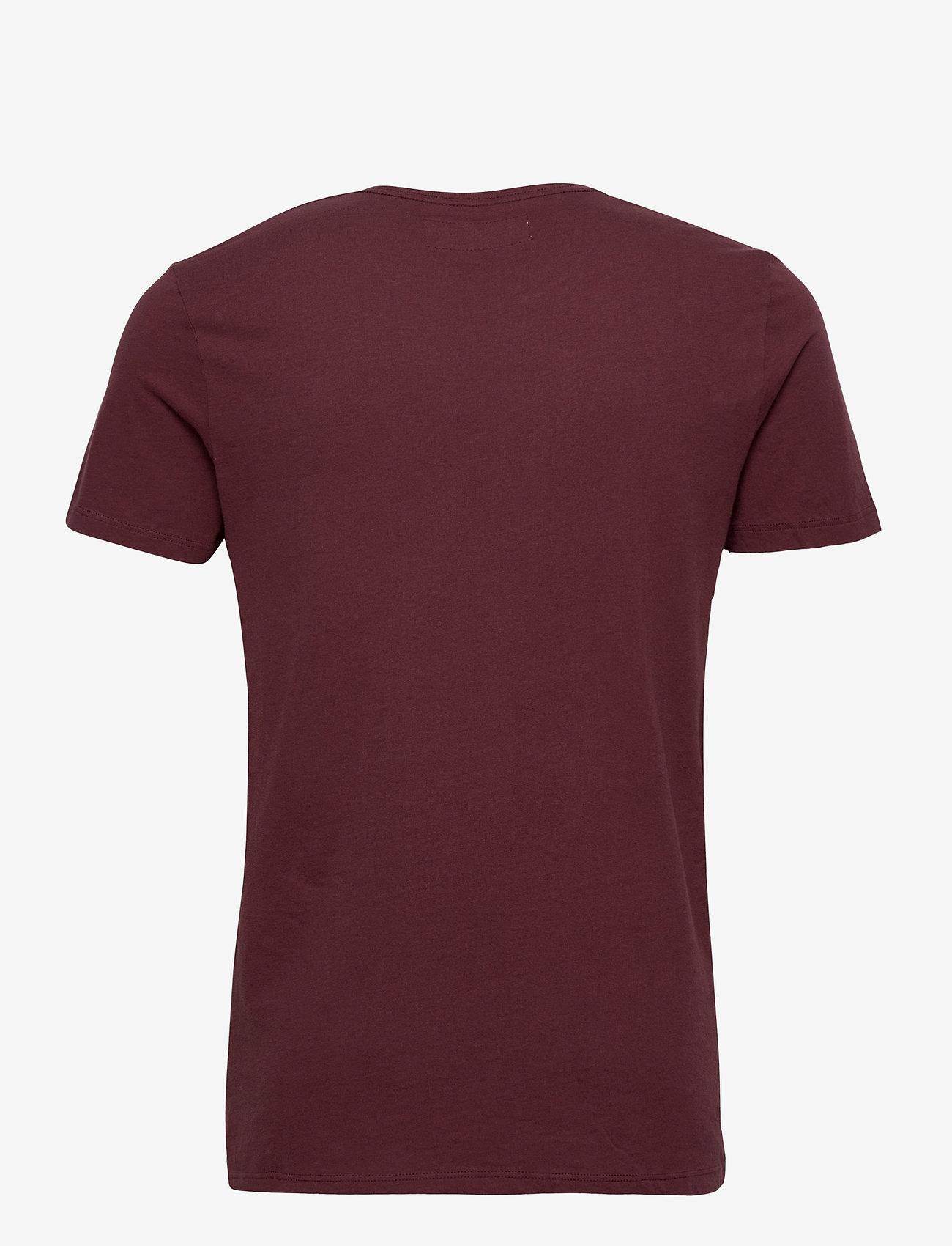 Abercrombie & Fitch MIN-MARKETED CREW - T-skjorter BURGUNDY DD - Menn Klær