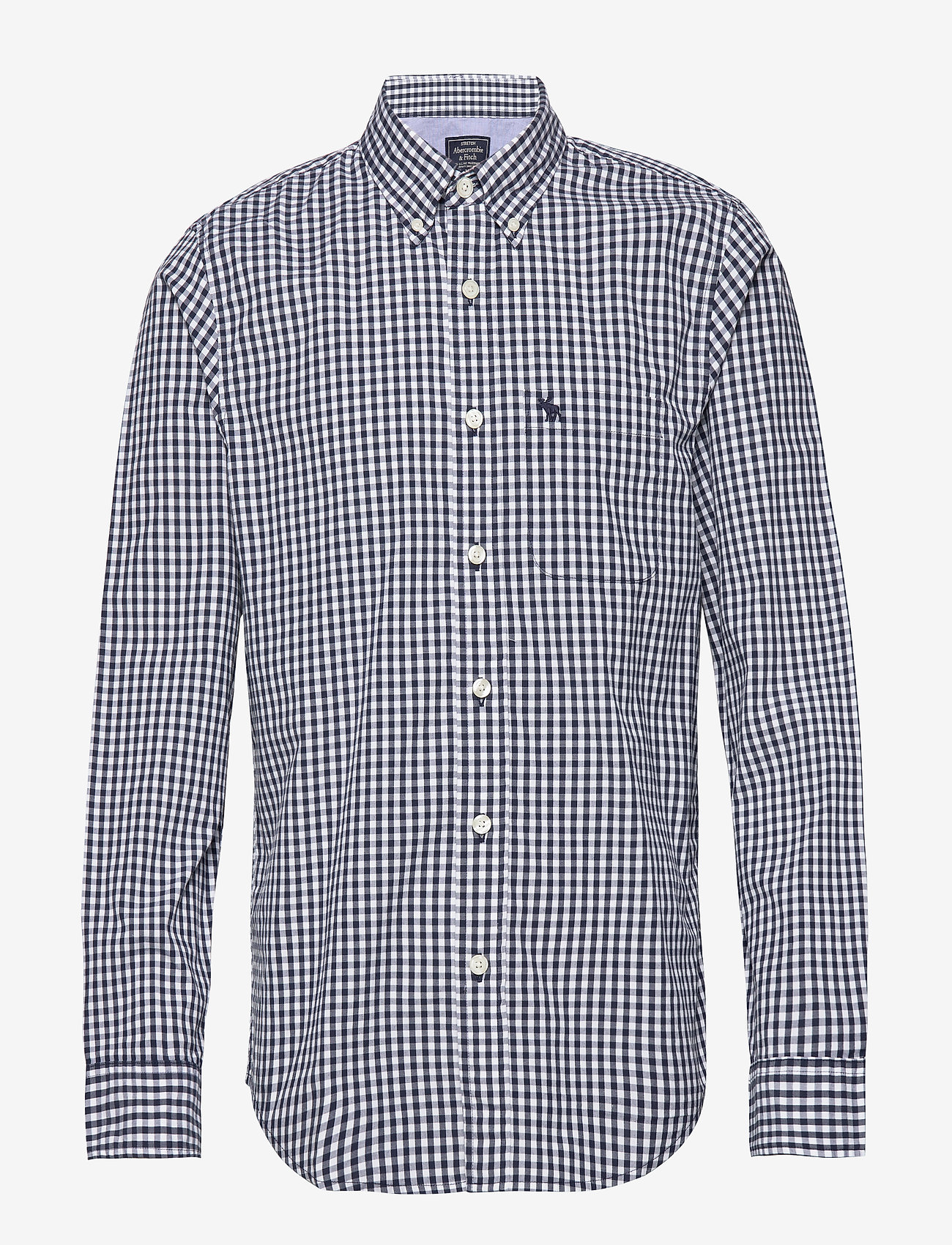 Abercrombie & Fitch - Gingham Poplin - checkered shirts - med blue pattern - 0
