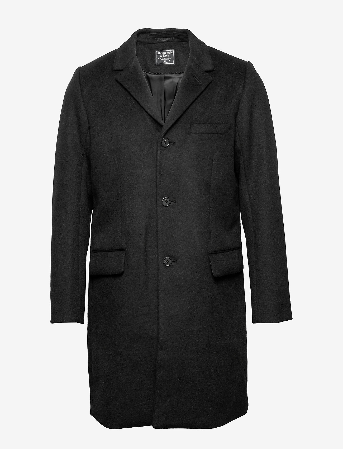 Abercrombie & Fitch - Wool Topcoat - villakangastakit - black dd