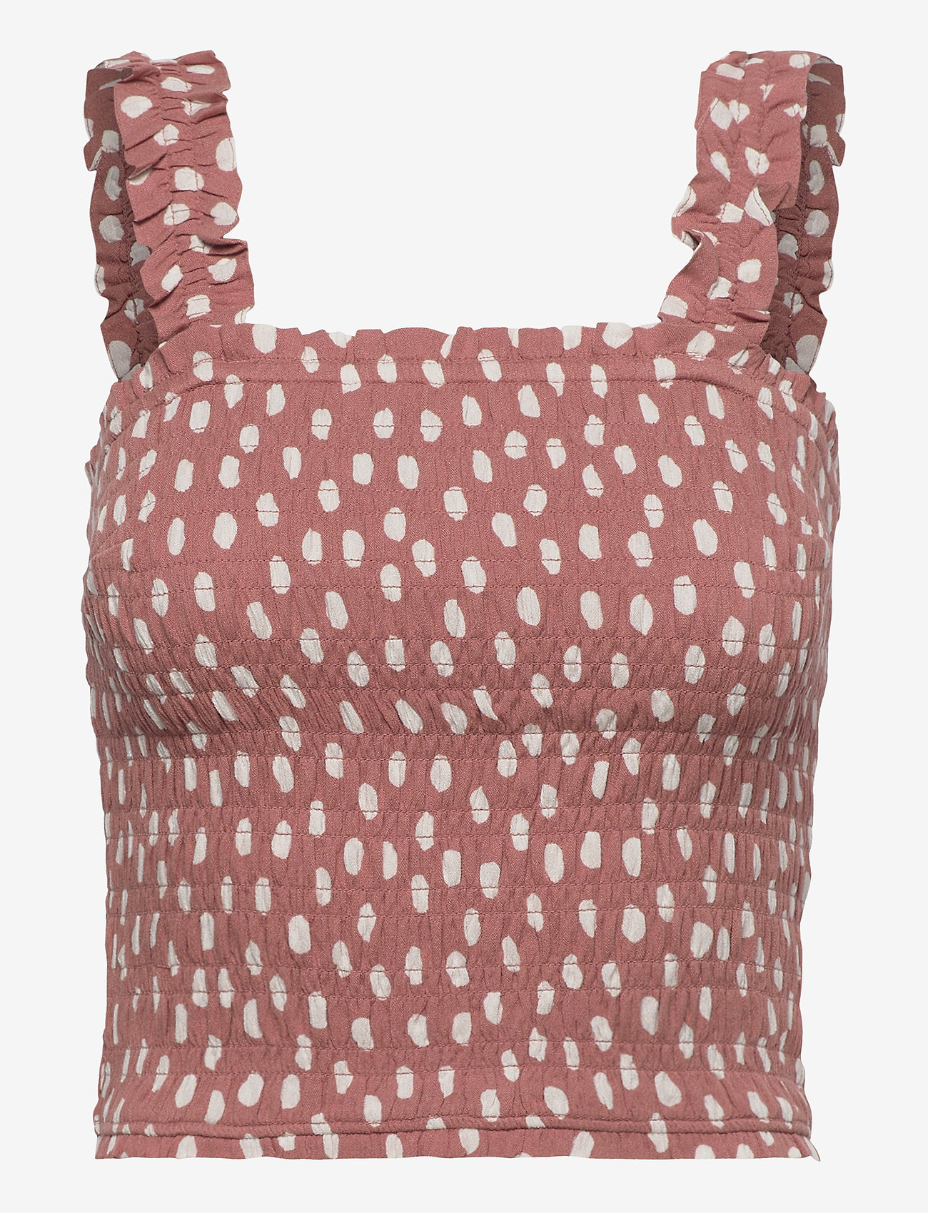 Abercrombie & Fitch - ANF WOMENS WOVENS - crop tops - white floral 628 - 0