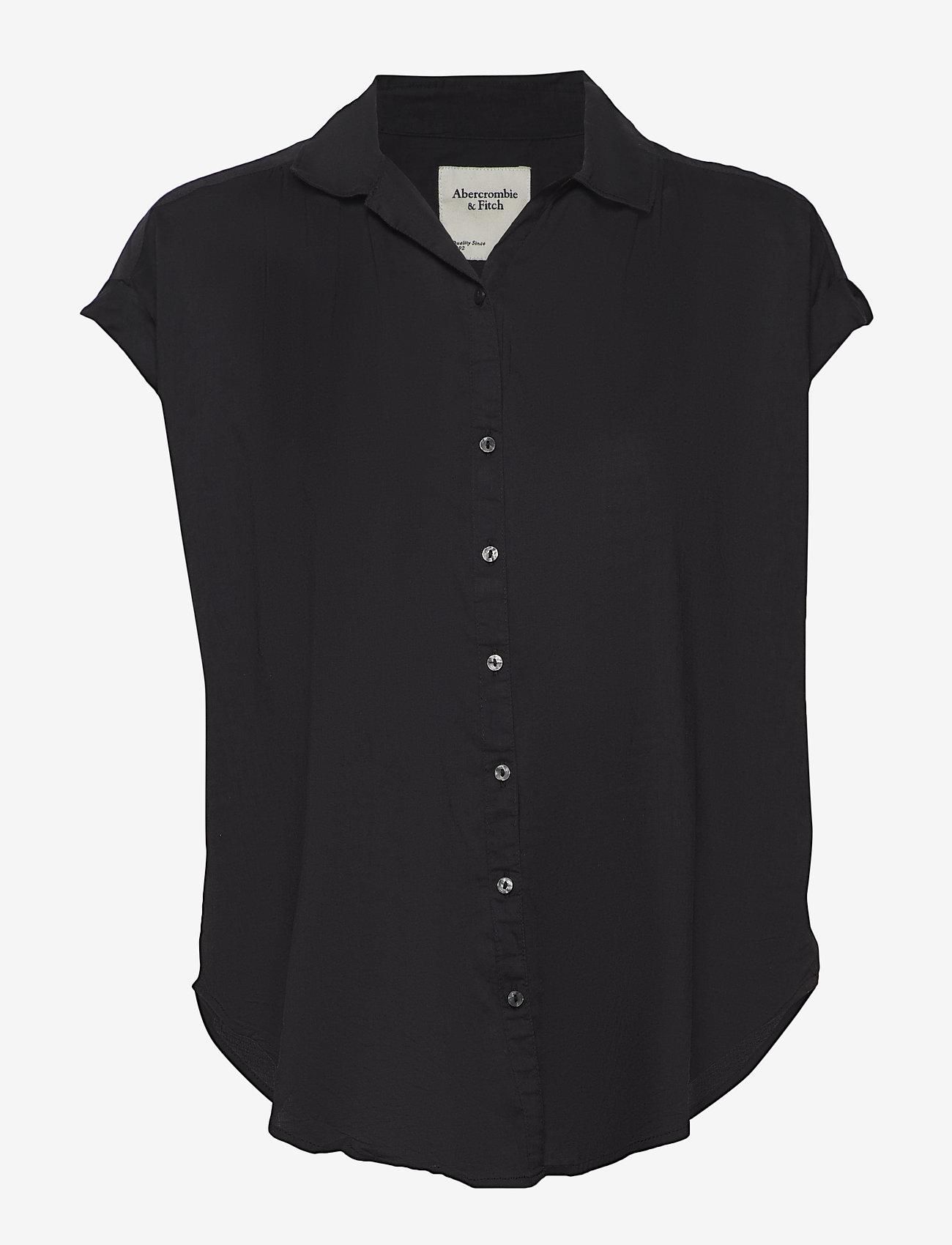 Abercrombie & Fitch - Shirt - overhemden met korte mouwen - black dd - 0