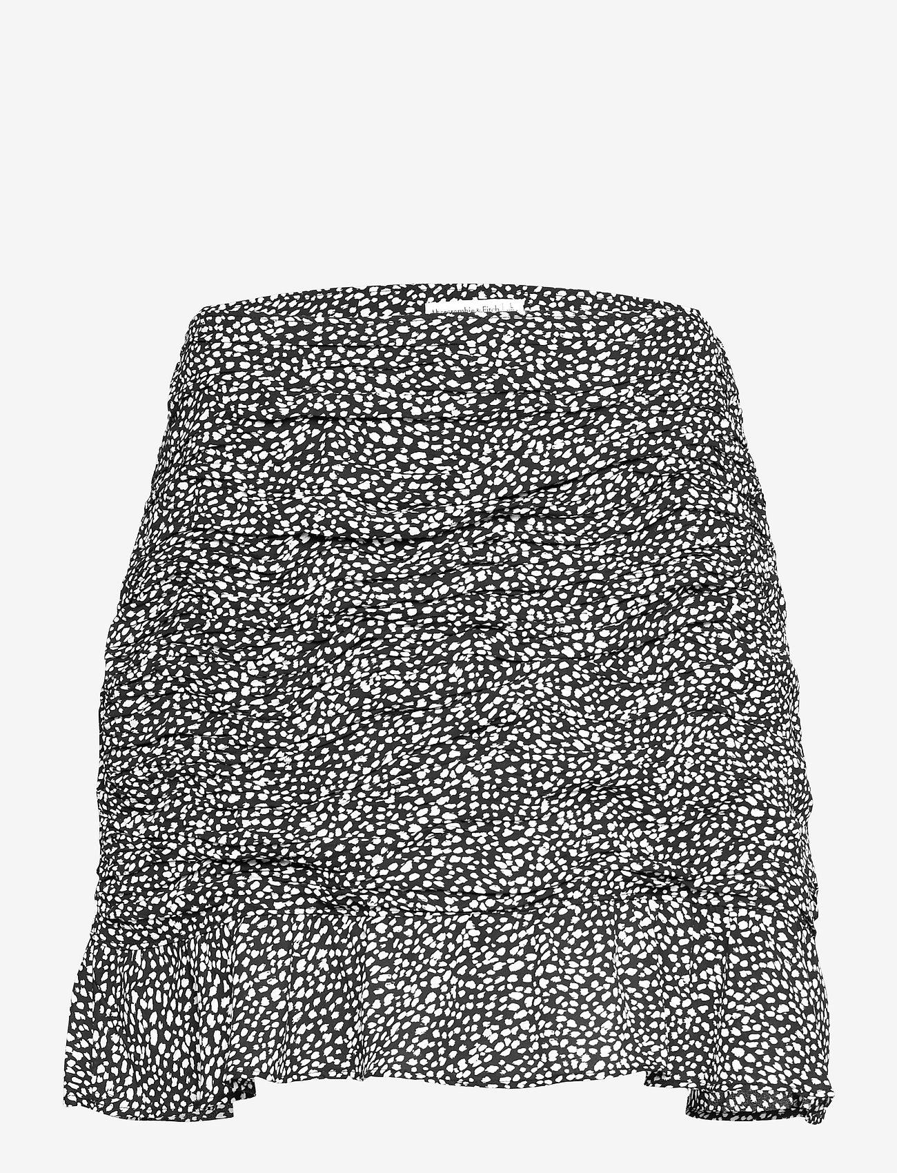 Abercrombie & Fitch - ANF WOMENS SKIRTS - korta kjolar - black dotted print - 0