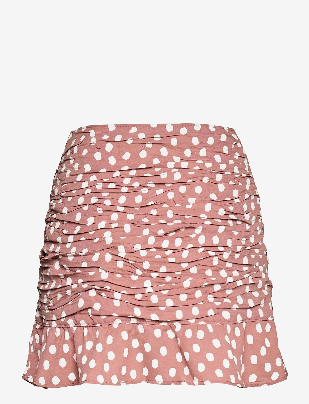 Abercrombie & Fitch - ANF WOMENS SKIRTS - korta kjolar - brown with white dots - 1