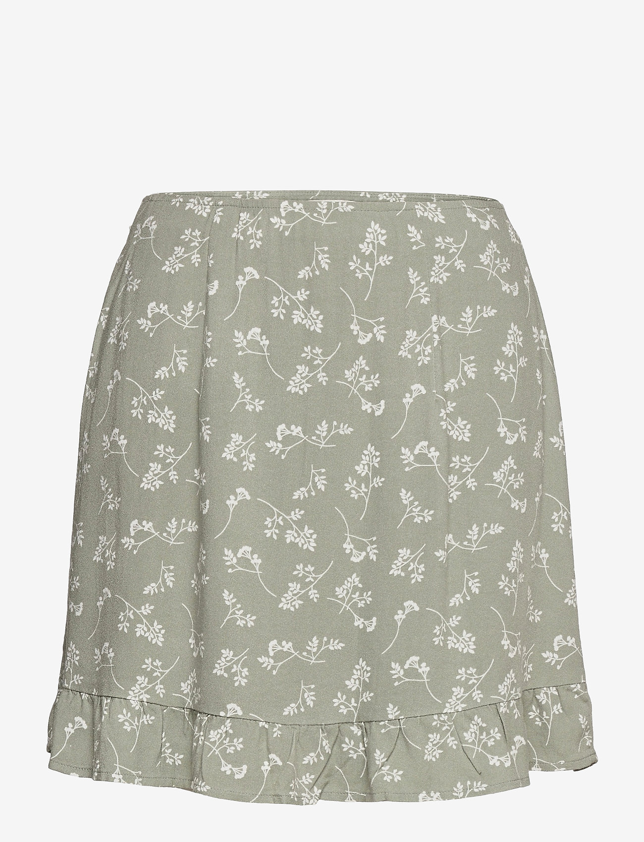 Abercrombie & Fitch - ANF WOMENS SKIRTS - korte nederdele - green floral - 0
