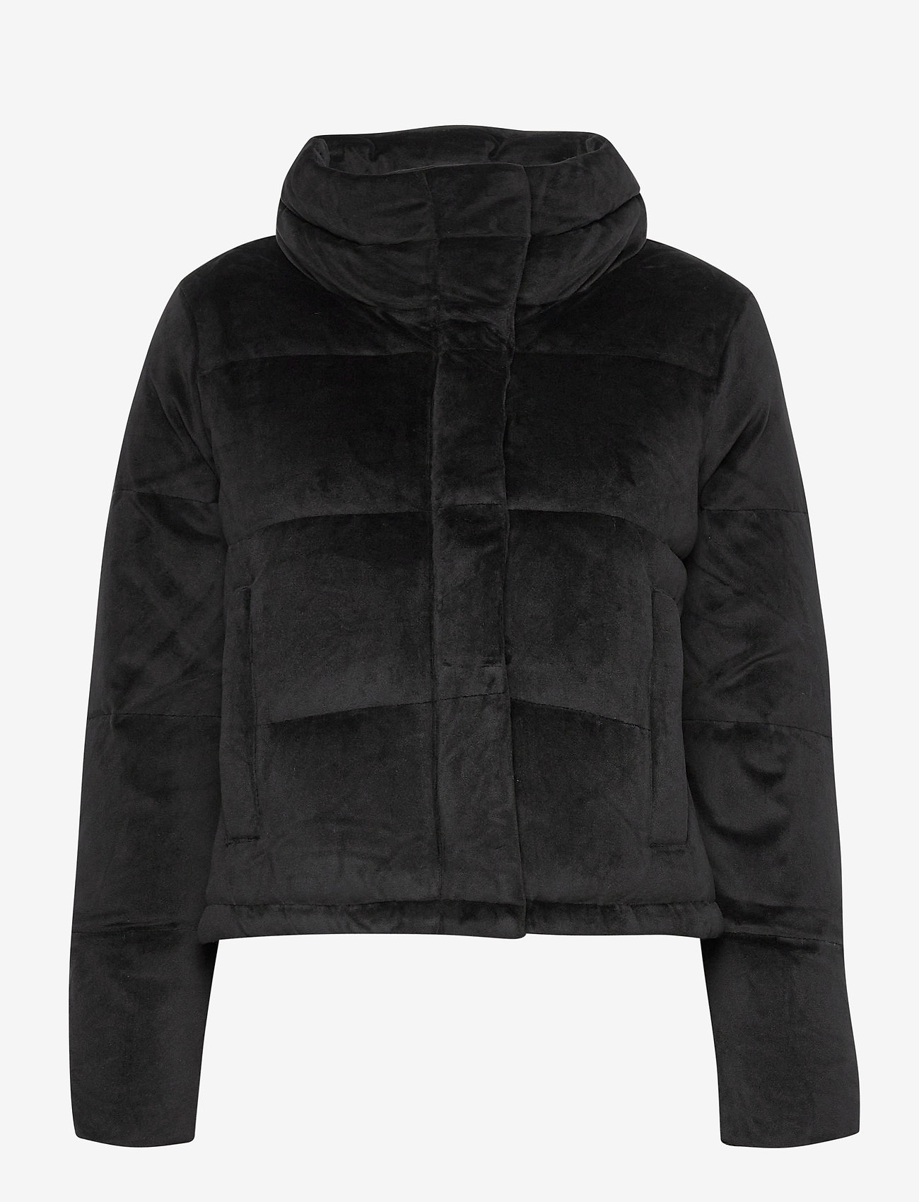 Abercrombie & Fitch - ANF WOMENS OUTERWEAR - faux fur - black sd/texture - 1