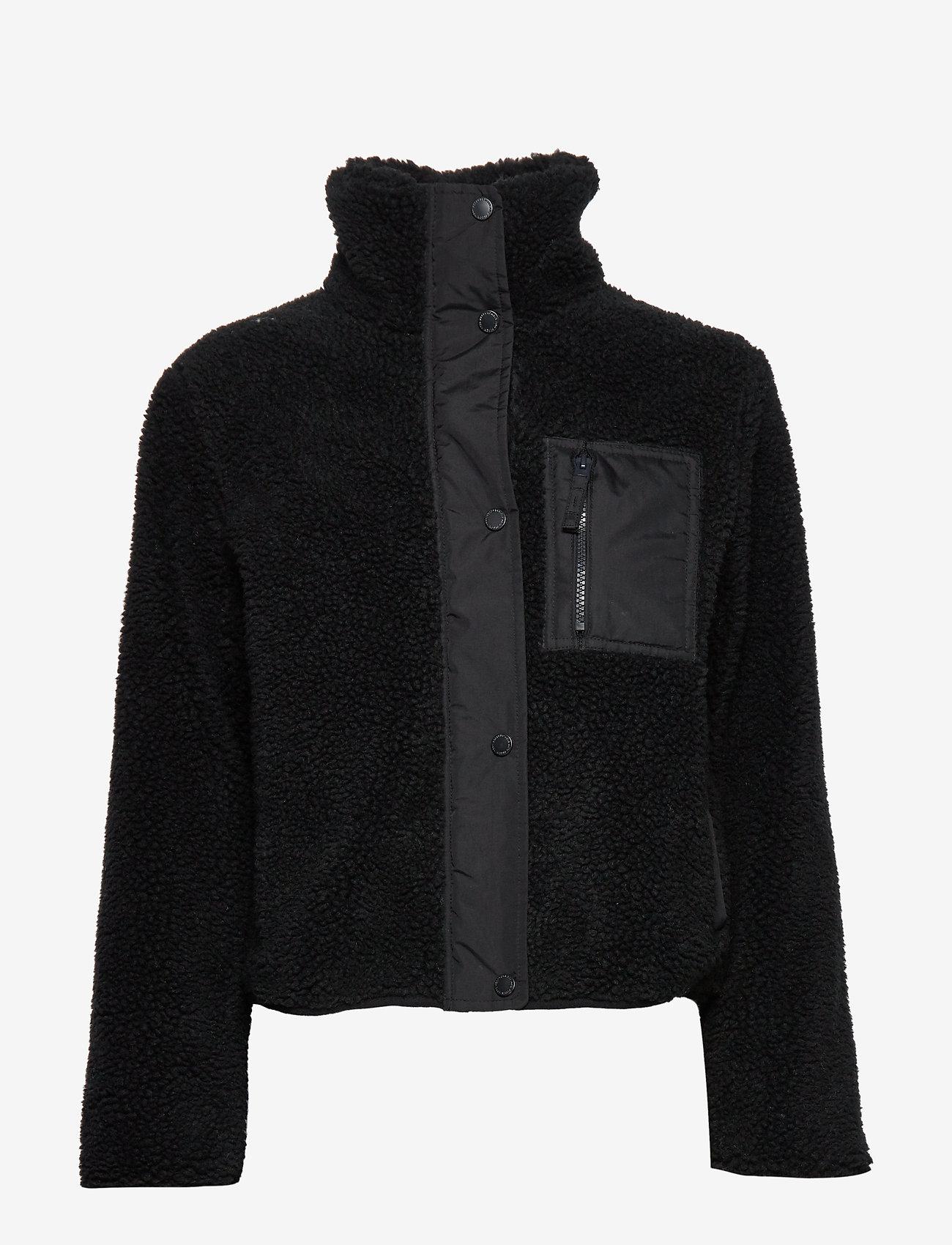 Abercrombie & Fitch - Dad Fleece Coat - sweatshirts - black dd - 1