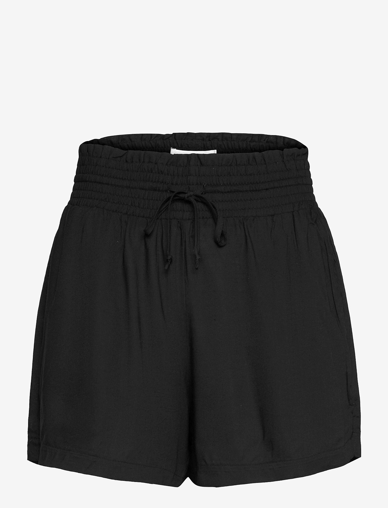 Abercrombie & Fitch - ANF WOMENS SHORTS - shorts casual - rayon pull on short black - 0
