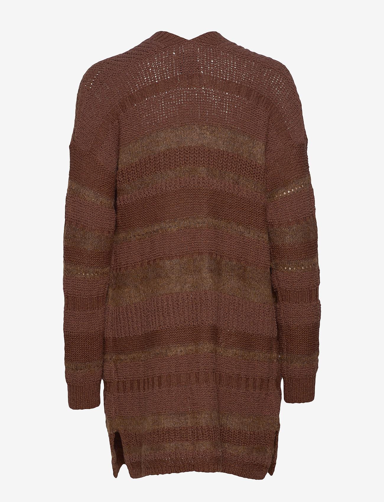 Abercrombie & Fitch Yarn Mix Cardi - Dzianina DARK BROWN SD/TEXTURE - Kobiety Odzież.