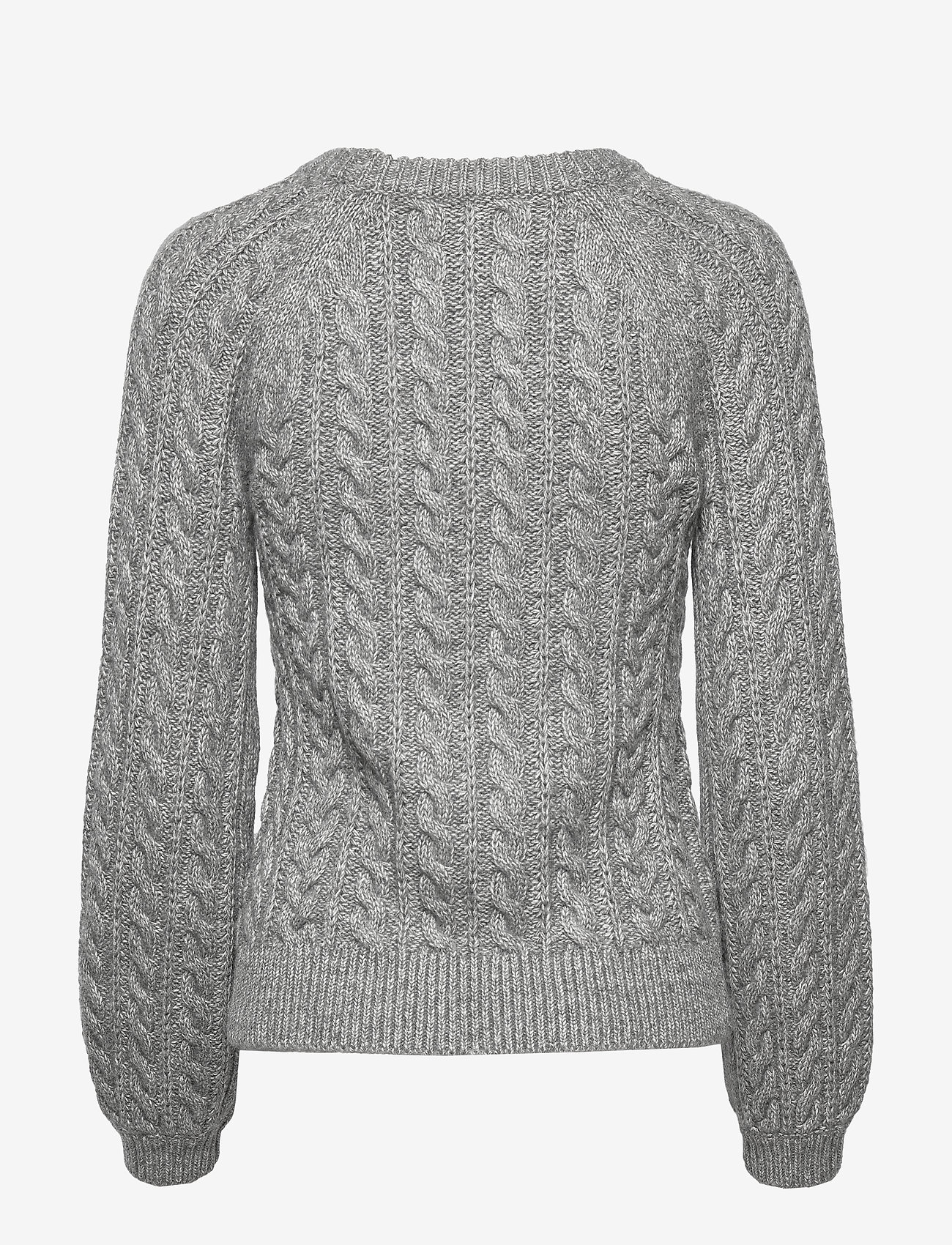 Abercrombie & Fitch - Cable Crewneck - neulepuserot - light grey sd/texture