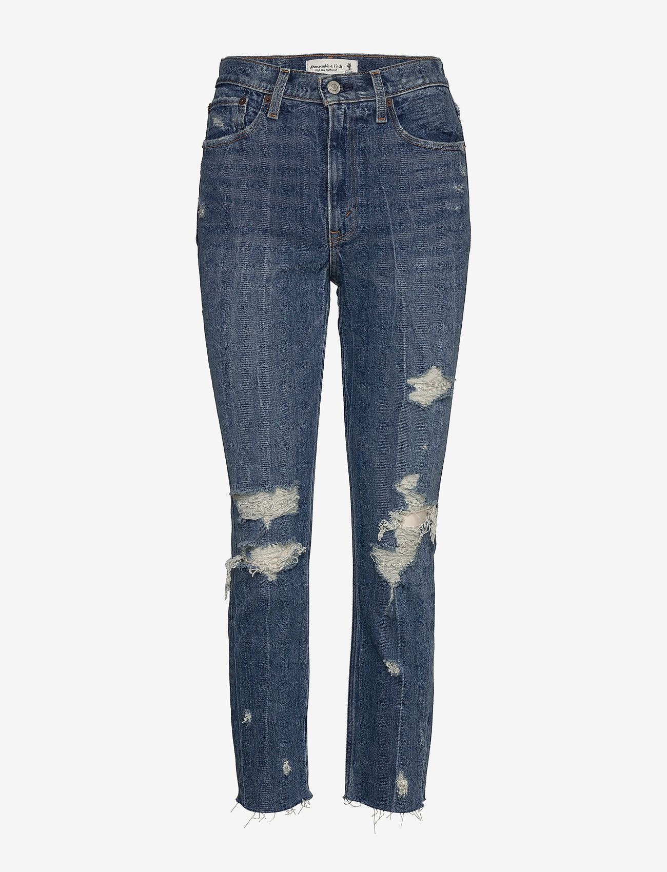 Abercrombie & Fitch - Mom Jeans - mom-jeans - dark destroy - 0