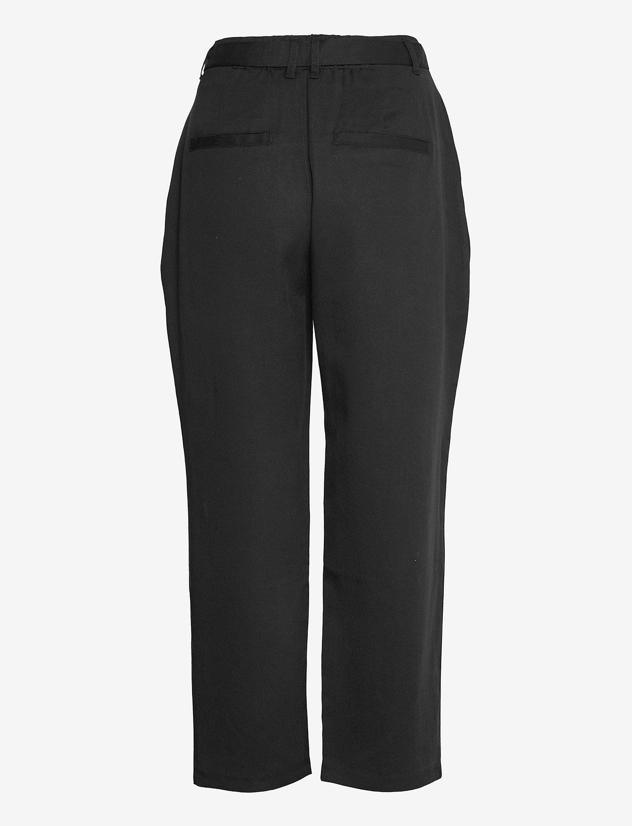 Abercrombie & Fitch - ANF WOMENS PANTS - bukser med lige ben - black - 1