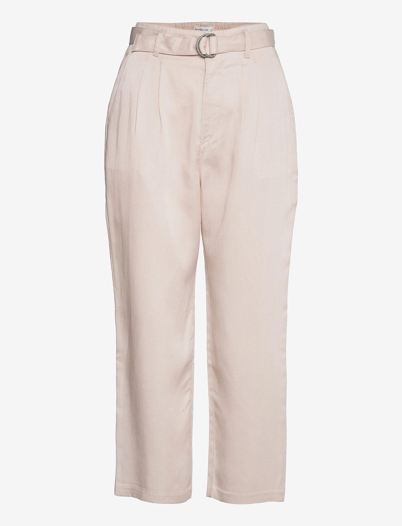 Abercrombie & Fitch - ANF WOMENS PANTS - bukser med lige ben - moonbeam - 0