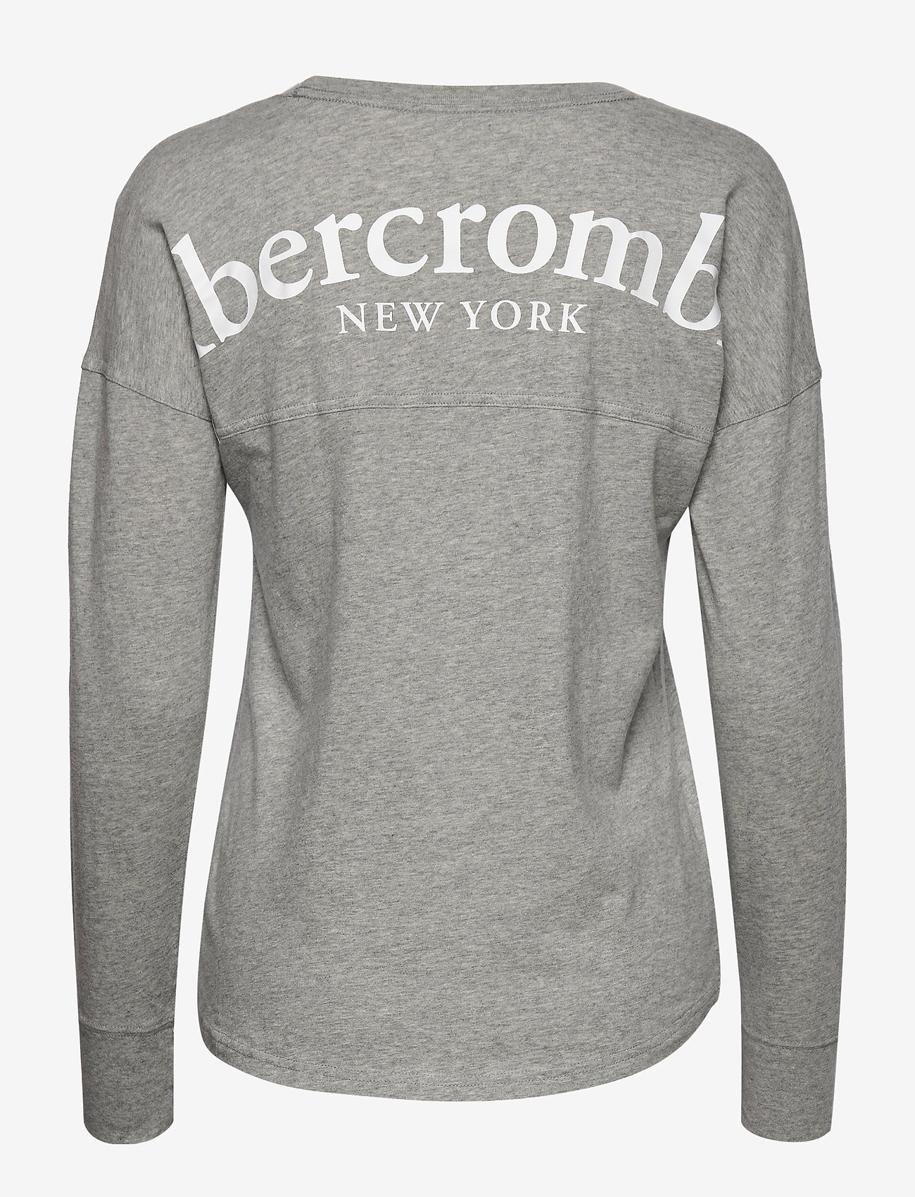 Print Logo Tee (Light Grey Sd/texture) (291.85 kr) - Abercrombie & Fitch