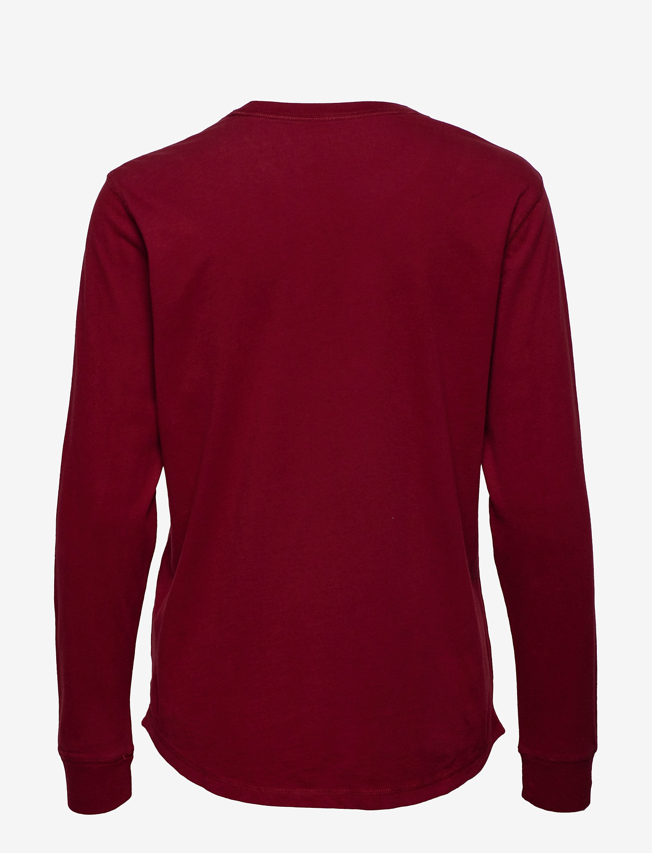 Long Sleeve Logo Tee (Burgundy Dd) (233.40 kr) - Abercrombie & Fitch