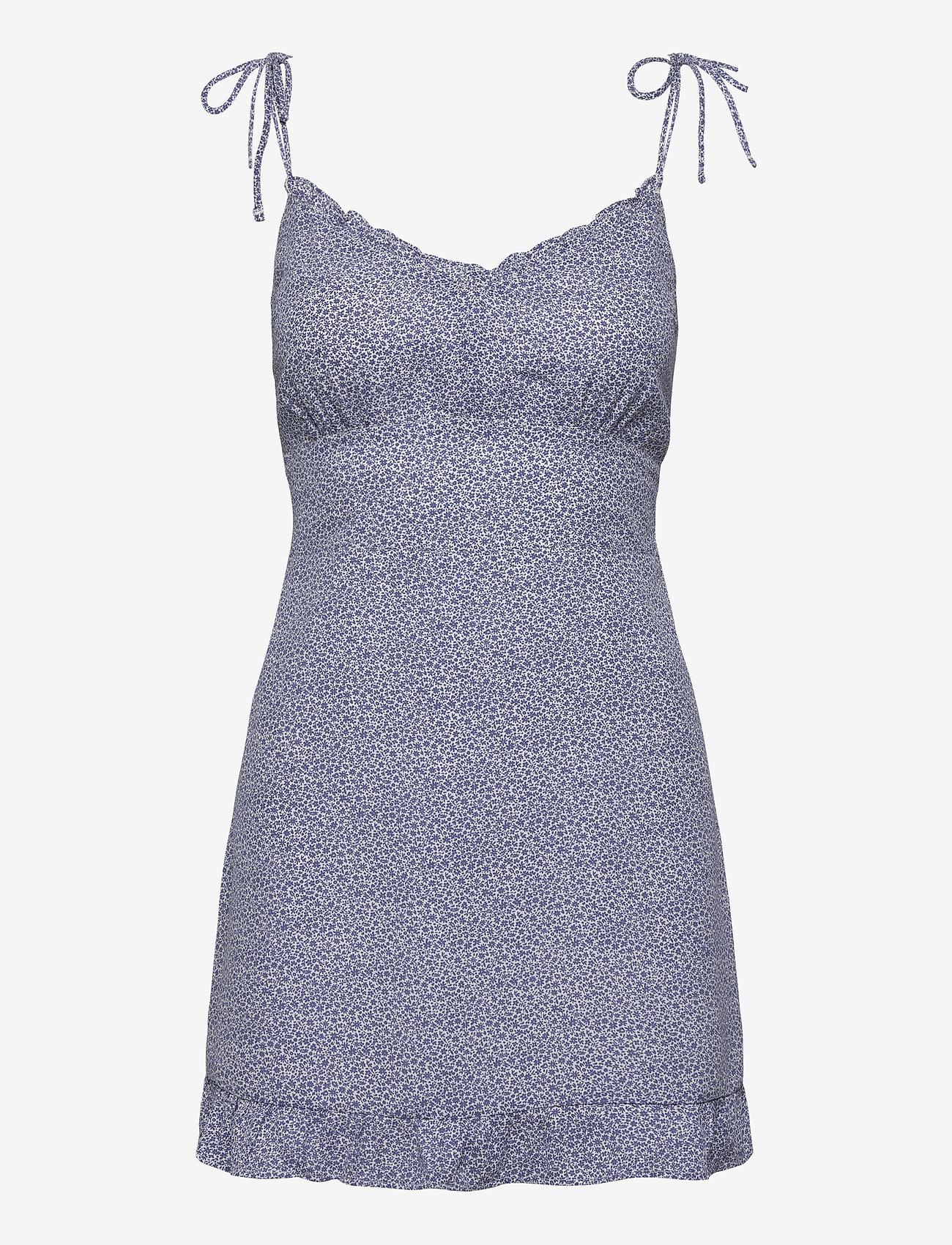 Abercrombie & Fitch - ANF WOMENS DRESSES - sommerkjoler - blue floral - 0