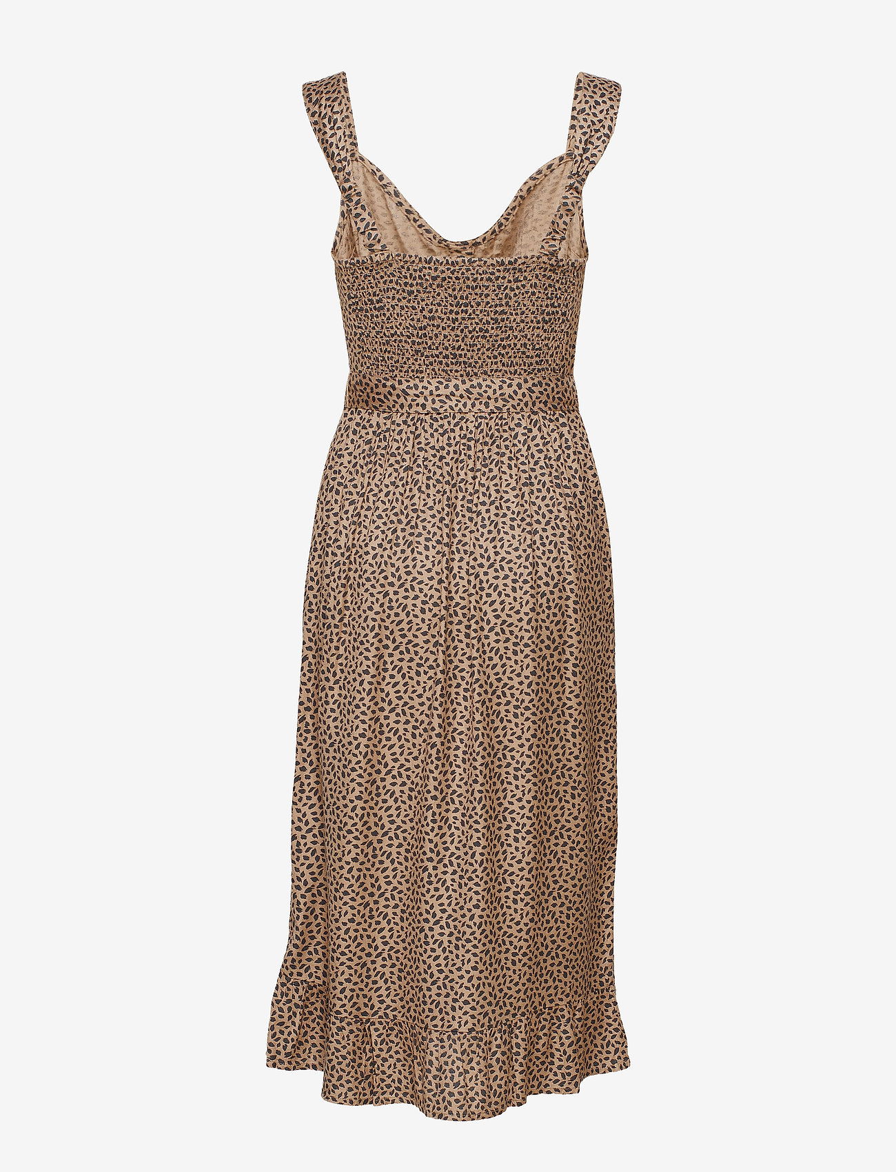 Ruffle Midi (Light Brown Print) (666.75 kr) - Abercrombie & Fitch