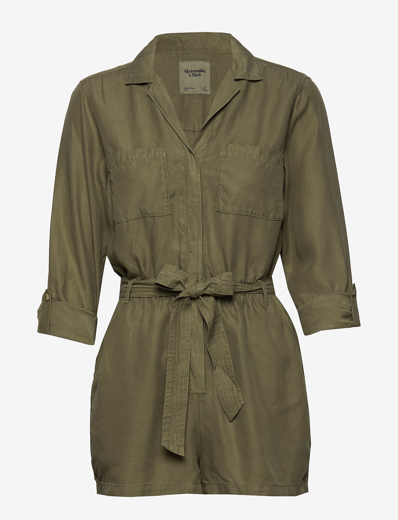 Button Utility Romp (Olive Dd) (441.35 kr) - Abercrombie & Fitch