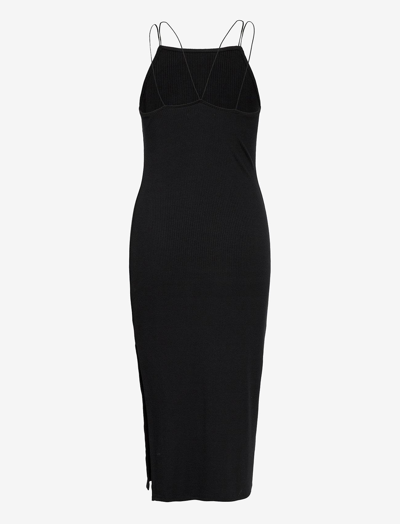 Knit Midi Dress (Black Dd) (519.35 kr) - Abercrombie & Fitch