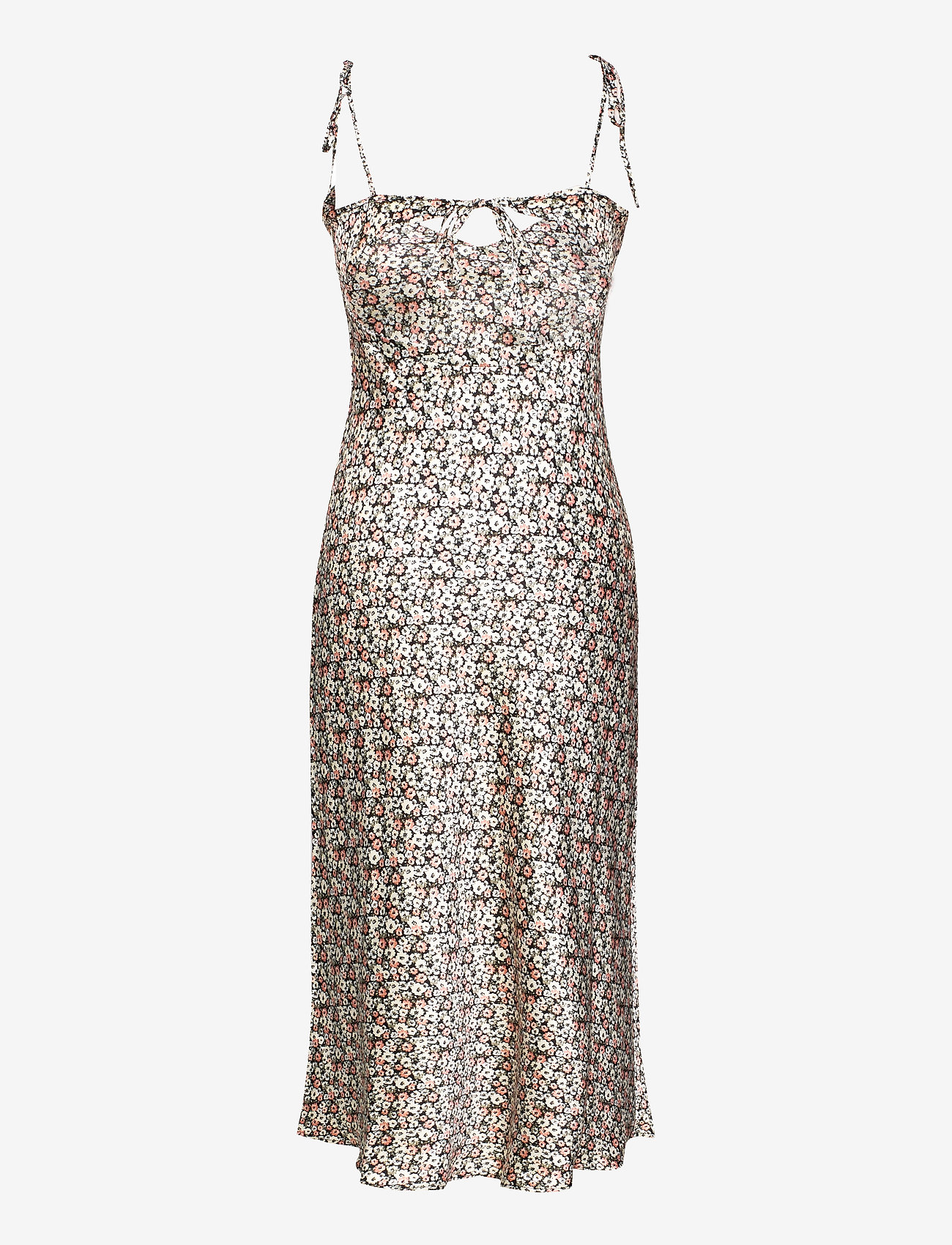 Satin Tie Back Maxi (Black Pattern) (85.50 €) - Abercrombie & Fitch HD0BY