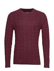 Cable Crew Sweater - RED DD