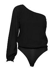 One Shoulder Bodysuit - BLACK BEAUTY