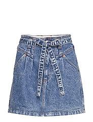 Button Front Skirt - LIGHT
