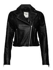 Faux Leather Moto - BLACK DD