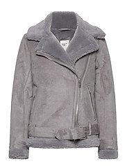 ANF WOMENS OUTERWEAR - MED GREY FLAT