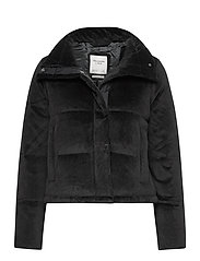 ANF WOMENS OUTERWEAR - BLACK SD/TEXTURE