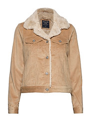 Corduroy Trucker with Sherpa Collar - LIGHT BROWN DD