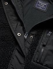 Abercrombie & Fitch - Dad Fleece Coat - sweatshirts - black dd - 3