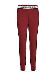 Rib Waist Jogger - DARK RED DD