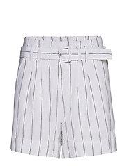 Linen City Short Stripe Set - WHITE STRIPE