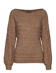 Boatneck Sweater - LIGHT BROWN SD/TEXTURE