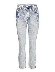 Vintage Wash Mom Jeans - DARK