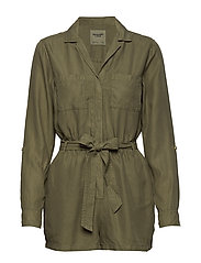 Button Utility Romp - OLIVE DD