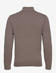 Abercrombie & Fitch - ANF MENS SWEATERS - half zip - light brown dd - 1