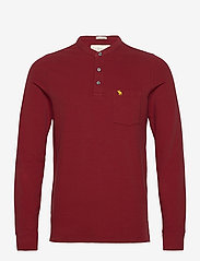 Abercrombie & Fitch - ANF MENS KNITS - half zip - red - 0