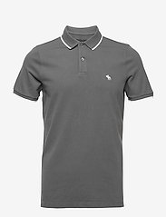 Abercrombie & Fitch - Core Polo - polos à manches courtes - dark grey flat - 0