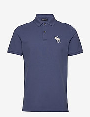 Abercrombie & Fitch - Exploded Polo - lyhythihaiset - med blue dd - 0