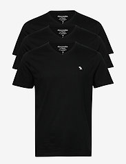 Abercrombie & Fitch - Vneck Multipack - basic t-shirts - black dd - 0