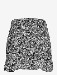 Abercrombie & Fitch - ANF WOMENS SKIRTS - korta kjolar - black dotted print - 1