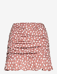 ANF WOMENS SKIRTS - BROWN WITH WHITE DOTS