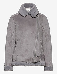 Abercrombie & Fitch - ANF WOMENS OUTERWEAR - faux fur - med grey flat - 1