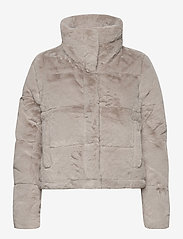 Abercrombie & Fitch - ANF WOMENS OUTERWEAR - faux fur - light grey flat - 1
