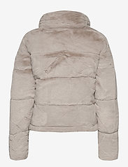 Abercrombie & Fitch - ANF WOMENS OUTERWEAR - faux fur - light grey flat - 2