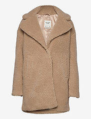 Abercrombie & Fitch - ANF WOMENS OUTERWEAR - faux fur - med brown dd - 0