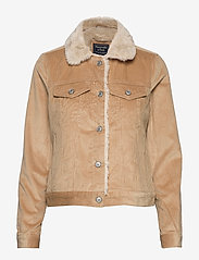 Abercrombie & Fitch - Corduroy Trucker with Sherpa Collar - jeansjacken - light brown dd - 1
