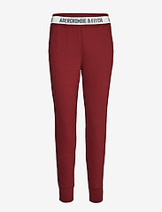 Abercrombie & Fitch - Rib Waist Jogger - verryttelyhousut - dark red dd - 0