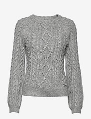 Abercrombie & Fitch - Cable Crewneck - neulepuserot - light grey sd/texture - 0